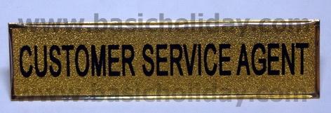 M 715 ป้ายติดเสื้อโลหะชุบสีทองเคลือบเรซิ่น