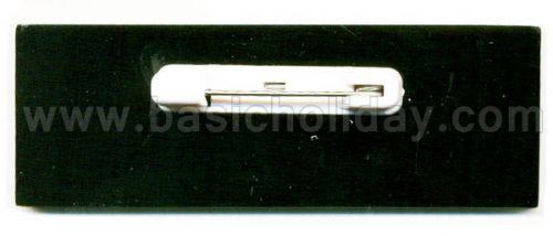 M 3220 ป้ายชื่ออะคริลิกสีดำ-TR