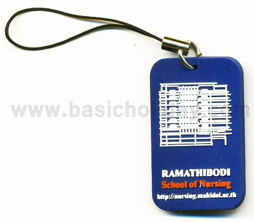 M 3142 ที่คล้องโทรศัพท์ยางหยอด - ร.พ. รามาธิบดี รับผลิตที่คล้องโทรศัพท์ ที่ห้อยมือถือ ตัวคล้องมือถือ ทำจากยางสังเคราะห์