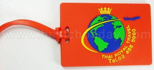 M 3092 ป้ายคล้องกระเป๋ายาง - Thai Royal Travel ป้ายยางคล้องกระเป๋า ป้ายคล้องกระเป๋า ป้ายยางห้อยกระเป๋า ป้ายแขวนกระเป๋า ยางหยอด