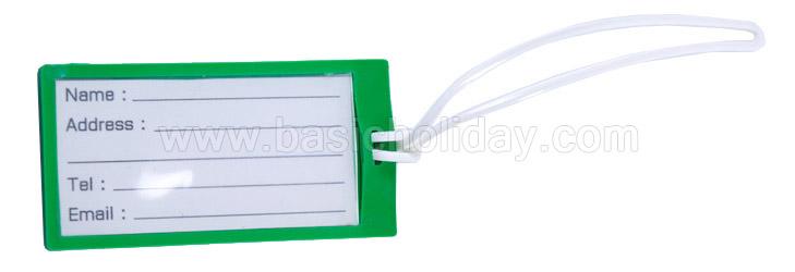 Tag ติดกระเป๋า Tag คล้องกระเป๋า แท็คติดกระเป๋า ป้ายห้อยกระเป๋าเดินทาง ของพรีเมี่ยม PVC
