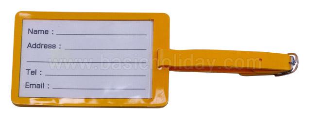 ป้ายห้อยกระเป๋า Luggage Tag สั่งทำพิมพ์โลโก้ ป้ายห้อยกระเป๋ายางหยอด soft pvc Tag ของพรีเมี่ยม