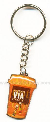 M 3133 พวงกุญแจโลหะเคลือบเรซิ่น-Starbucks พวงกุญแจโลหะ ของพรีเมี่ยม พวงกุญแจ