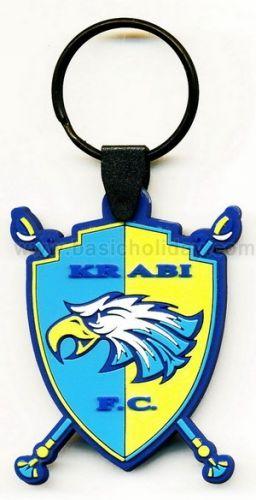 M 3242 พวงกุญแจยางหยอด-Krabi FC พวงกุญแจ พวงกุญแจยางหยอด พวงกุญแจยาง พวงกุญแจ Soft pvc