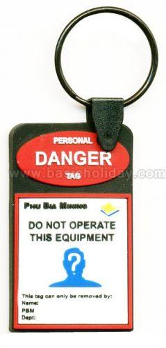 M 3249 พวงกุญแจยางหยอด-Danger พวงกุญแจ พวงกุญแจยางหยอด พวงกุญแจยาง พวงกุญแจ Soft pvc