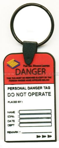 M 3250 พวงกุญแจยางหยอด-Personal Danger พวงกุญแจ พวงกุญแจยางหยอด พวงกุญแจยาง พวงกุญแจ Soft pvc