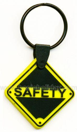 M 3252 พวงกุญแจยางหยอด-Safety พวงกุญแจ พวงกุญแจยางหยอด พวงกุญแจยาง พวงกุญแจ Soft pvc