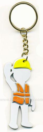 M 3253 พวงกุญแจยางหยอด-ตุ๊กตายืนโบก พวงกุญแจ พวงกุญแจยางหยอด พวงกุญแจยาง พวงกุญแจ Soft pvc