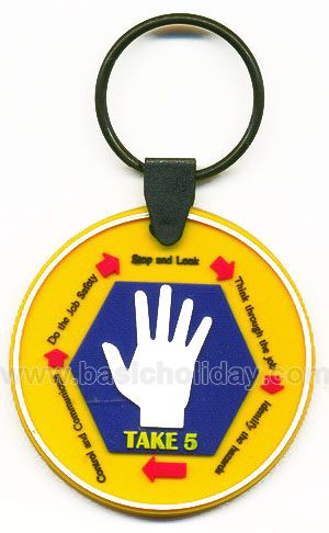 M 3255 พวงกุญแจยางหยอด - Take 5 พวงกุญแจ พวงกุญแจยางหยอด พวงกุญแจยาง พวงกุญแจ Soft pvc