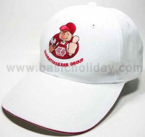 M 3090 หมวกแก๊ป-ชัยรัชการ หมวก หมวกแก๊ป หมวกปีกหน้ายาว หมวกผ้าลายสอง พรีเมี่ยม