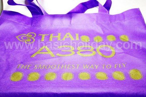 ถุงผ้าสปันบอนด์สีม่วง - การบินไทย