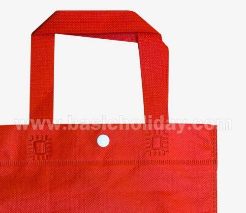 ถุงหิ้วผ้าสปันบอนด์สีแดง