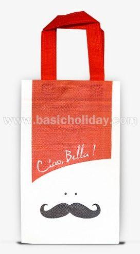 ถุงหิ้วผ้าสปันบอนด์ใส่ขวดน้ำ 75 Gsm-Ciao Bella