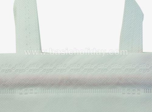 ถุงหิ้วผ้าสปันบอนด์หูรูดสีขาว