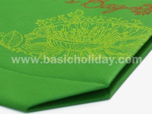 M 4223  ถุงหิ้วผ้าสปันบอนด์สีเขียว-Gina bag