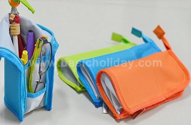 กระเป๋าใส่เครื่องเขียน กระเป๋าใส่ดินสอ กระเป๋าพับได้ ของที่ระลึก ของขวัญ ของชำร่วย ของแจก สกรีนข้อความฟรี