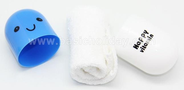 ผ้าเช็ดหน้าในหลอดแคปซูล ของขวัญน่ารัก ของที่ระลึกแคปซูลยาผ้าเขนหนู ของแจก