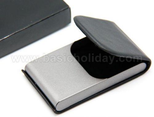 P 2144 กล่องใส่นามบัตรโลหะสีดำ