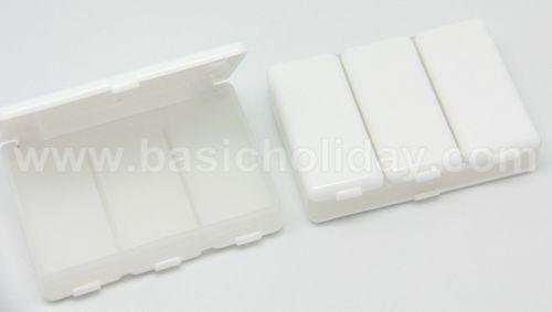 กล่องใส่ยา 4 ช่อง สีขาว รับผลิตและนำเข้า ของพรีเมี่ยม สินค้าพรีเมียม ของที่ระลึก ของชำร่วย ของแจก ของแถม สั่งทำ สั่งผลิต