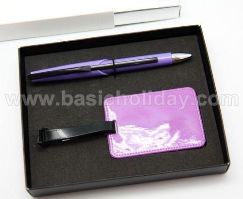 ชุดป้ายคล้องกระเป๋า+ปากกาลูกลื่น ของพรีเมี่ยม สินค้าพรีเมียม ของที่ระลึก ของชำร่วย ของแจก ของแถม สั่งทำ สั่งผลิต