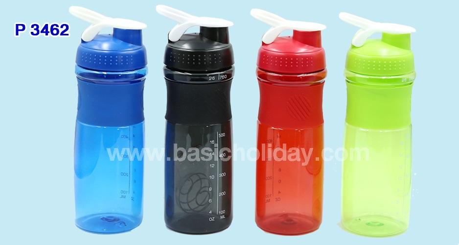 P 3462 กระบอกน้ำพลาสติก แก้วเชค ขนาด 500 ml.