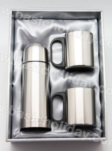 P 2309 ชุด Giftset กระติก+ถ้วย 2 ใบ กระบอกน้ำ กระติกน้ำสแตนเลส กระติกน้ำพลาสติก กระบอกน้ำอลูมิเนียม แก้วน้ำสแตนเลส ขวดน้ำ เหยือกน้ำ กระติกน้ำ แก้วน้ำ 2 ชั้น สินค้าพรีเมี่ยม