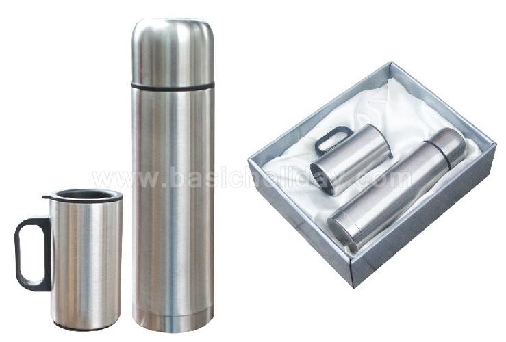P 2310 ชุด Giftset กระติก+ถ้วย กระบอกน้ำ กระติกน้ำสแตนเลส กระติกน้ำพลาสติก กระบอกน้ำอลูมิเนียม แก้วน้ำสแตนเลส ขวดน้ำ เหยือกน้ำ กระติกน้ำ แก้วน้ำ 2 ชั้น สินค้าพรีเมี่ยม