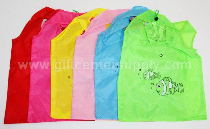 ถุงผ้าพับได้ ถุงผ้าปลาการ์ตูน ถุงผ้าราคาถูก ถุงผ้าขายส่ง ราคาส่ง ของแจก ของที่ระลึก ของแจกเด็ก ของขวัญ