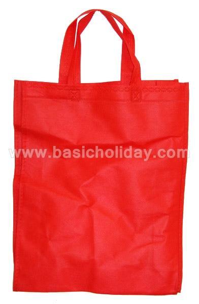 ถุงผ้าสปันบอนด์ สีแดง ราคาถูก กระเป๋าผ้า Spunbond Bag พร้อมสกรีนโลโก้ ถุงพรีเมี่ยม ถุงผ้าพิมพ์แบรนด์
