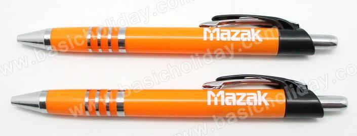 ปากกาพลาสติก ปากกาโลหะ ปากกานำเข้า ปากกาสกรีนชื่อบริษัท ปากกาสกรีนโลโก้ ปากกาพรีเมี่ยม ของขวัญ ปากกา ของแจกงานสัมมนา mazak งานเลี้ยงรุ่น ครบรอบบริษัท ของที่ระลึกงานประชุม