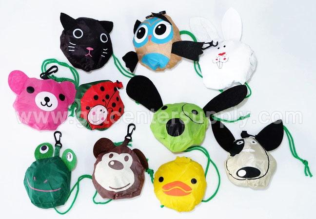 ถุงผ้าลดโลก ถุงผ้ารูปสัตว์ ถุงผ้าลายสัตว์ กระเป๋าผ้าพับได้ กระเป๋าผ้าลดโลกร้อน ถุงผ้าพับเก็บได้ ขายส่ง ราคาส่ง