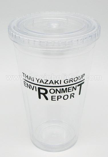 แก้วน้ำ 2 ชั้น แก้วพลาสติก แก้วสรีน แก้วน้ำใส แก้วทรงสั้น แก้วสกรีนโลโก้ ใส่ชื่อ ฟรี ของแจกในงาน ของที่ระลึก ของขวัญ ของพรีเมี่ยม สินค้าที่ระลึก