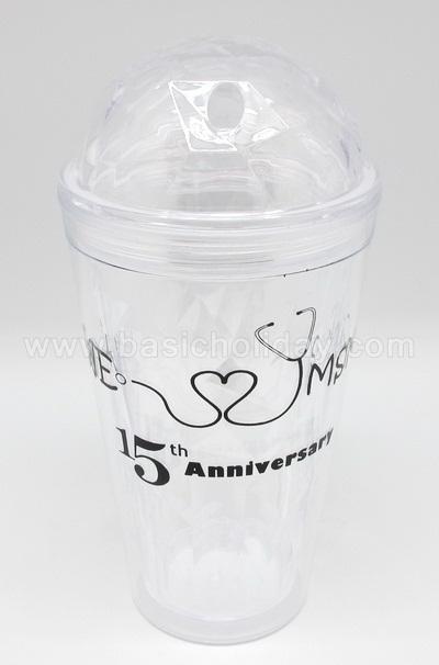 แก้วน้ำ 2 ชั้น แก้ว Starbucks ถ้วยสตาร์บัค กระติกน้ำ ถ้วยน้ำ Tumbler พลาสติก สินค้าพรีเมี่ยม ของชำร่วย ของแจก สกรีนโลโก้ แก้วใส