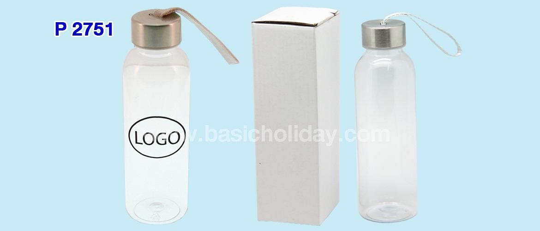 กระบอกน้ำพลาสติกใส 420 ml.