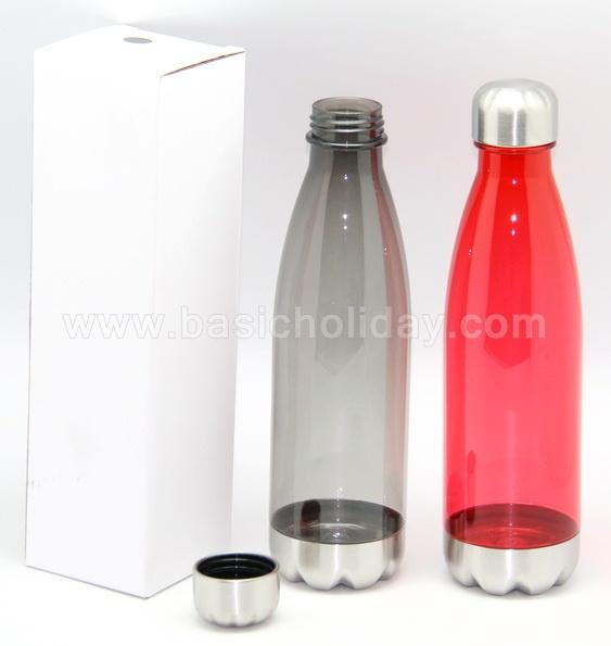 กระบอกน้ำ กระติกน้ำพลาสติก กระบอกน้ำฝาอลูมิเนียม แก้วน้ำพลาสติก ขวดน้ำพลาสติก สกรีนโลโก้ สกรีนชื่อ
