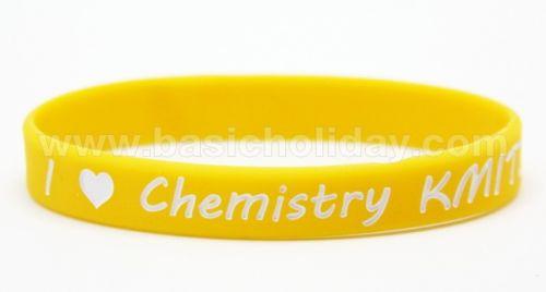 M 4205  สายรัดข้อมือซิลิโคน - Chemistry KUMT รับผลิตและนำเข้า ของพรีเมี่ยม souvenir สินค้าพรีเมียม ของที่ระลึก ของชำร่วย ของแจก ของแถม สั่งทำ สั่งผลิต