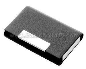 กล่องนามบัตรโลหะ-หนา หุ้มด้วยหนังสีดำ ของพรีเมี่ยม สินค้าพรีเมียม ของที่ระลึก ของชำร่วย ของแจก ของแถม สั่งทำ สั่งผลิต