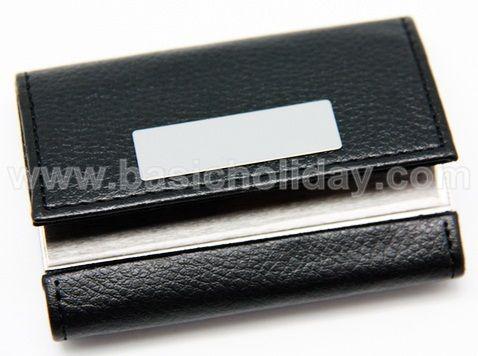 กล่องใส่นามบัตรหนัง-แนวนอนสีดำ ของพรีเมี่ยม สินค้าพรีเมียม ของที่ระลึก ของชำร่วย ของแจก ของแถม สั่งทำ สั่งผลิต