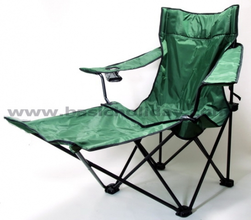 M 1383 เก้าอี้พับมีที่วางแขนและวางเท้า