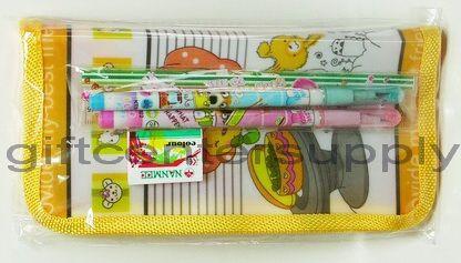 1085 ชุดซองเครื่องเขียน+ไม้บรรทัด+ดินสอต่อไส้+ยางลบ