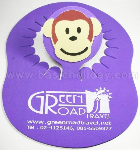 M 3172 หมวกโฟมสีม่วง - Green Road Travel หมวกโฟม อุปกรณ์เชียร์กีฬา หมวกโฟม หมวกแค๊ป โฟม หมวกพรีเมี่ยม สกรีนโลโก้ หมวกโฟมยาง