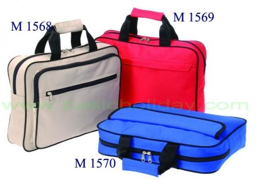 M 1568 กระเป๋าผ้า 600 D ขนาด 15 สูง 11 ข้าง 3.5 นิ้ว