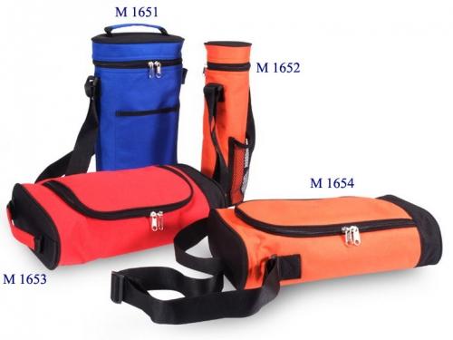 M 1651 กระเป๋าใส่ขวดน้ำ ผ้า 600 D ขนาดกว้าง 8 สูง 14 ข้าง 4 นิ้ว