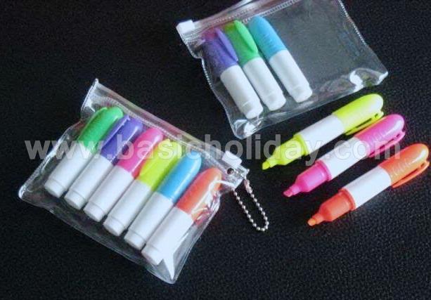 ปากกาพลาสติก PEN PREMIUM พร้อมสกรีนโลโก้ ปากกาเน้นข้อความ ปากกา highlight