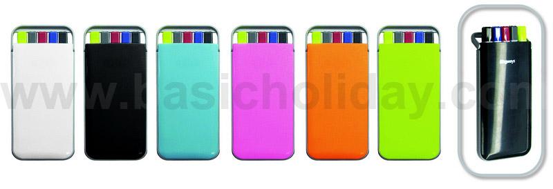 Pen 676 ชุดเครื่องเขียน (ปากกา+ดินสอ+Hilight) คละสี
