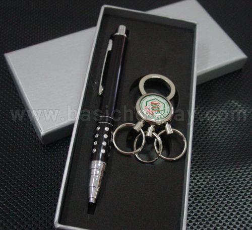 M 3368 ชุด Giftset ปากกาโลหะ+พวงกุญแจ ของชำร่วย สินค้าที่ระลึก ของที่ระลึก ของขวัญ  ของแต่งงาน ของพรีเมี่ยม กิ๊ฟช็อป ของตกแต่งบ้าน ของแถม