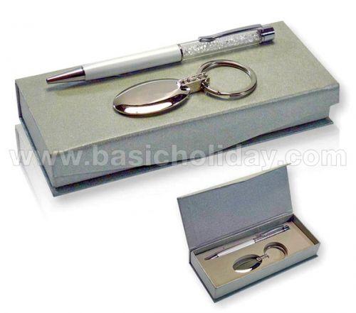 Giftset ปากกาและพวงกุญแจ ของพรีเมี่ยม สินค้าพรีเมียม ของที่ระลึก ของชำร่วย ของแจก ของแถม สั่งทำ สั่งผลิต