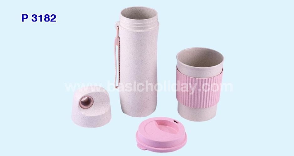 ชุดกระบอกน้ำและแก้วน้ำ ECO (แก้ว 350 ml.)