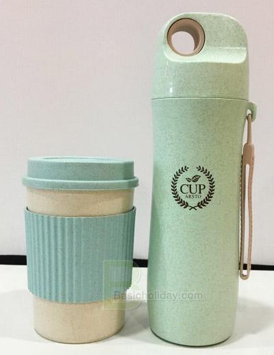 กระบอกน้ำ กล่องใส่อาหาร กล่องเก็บอาหาร แก้วน้ำ ECO แก้วน้ำวัสดุธรรมชาติ ของพรีเมี่ยม ของแจกลูกค้า สกรีนฟรี