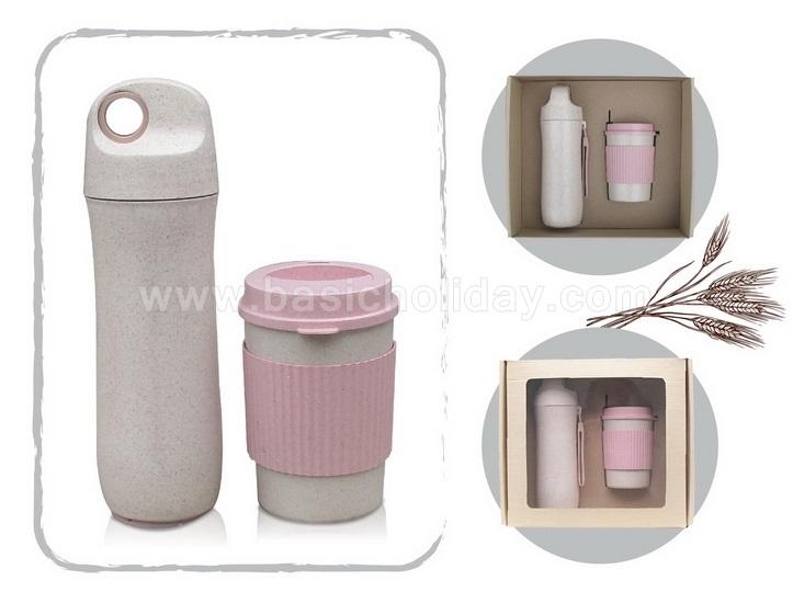 ชุดกิีฟเซ็ทกระติกน้ำ กิ๊ฟเซ็ทแก้วน้ำ กิ๊ฟเซ็ทกระบอกน้ำพรีเมี่ยม ของชำร่วย สินค้าพรีเมี่ยม แก้ว Eco